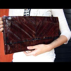Vintage eel skin clutch
